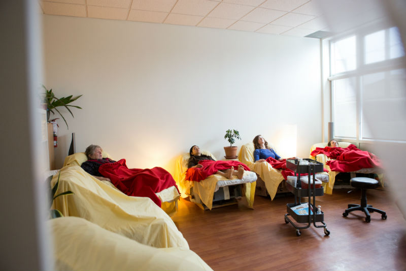 Patients napping from a distance